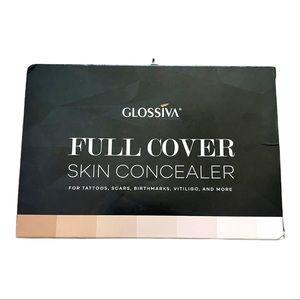 Glossiva Full Coverage Skin Concealer for Tattoos, Birthmarks, Scars, Vitiligo